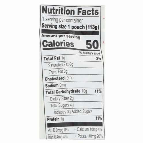 Earth's Best Organic Wholesome Breakfast Sweet Potato Cinnamon Pouch - Case of 12 - 4 oz. Perspective: back