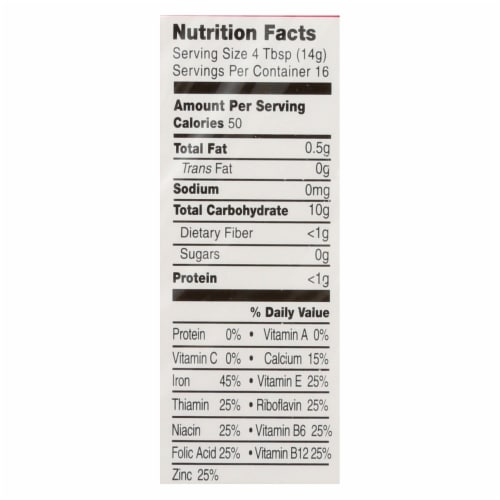 Earth's Best Organic Whole Grain Rice Infant Cereal - Case of 12 - 8 oz. Perspective: back