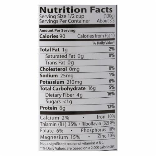 Eden Foods Organic Black Eyed Peas - Case of 12 - 15 oz. Perspective: back