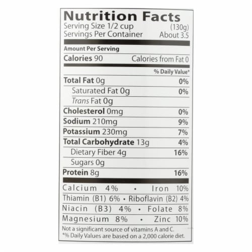 Eden Foods Organic Lentils with Onion and Bay Leaf - Case of 12 - 15 oz. Perspective: back