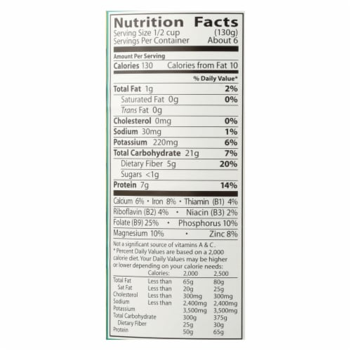 Eden Foods Organic Garbanzo Beans - Case of 12 - 29 oz. Perspective: back
