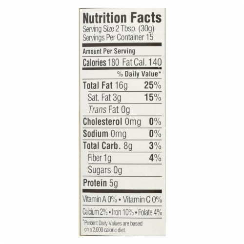 Woodstock Non-GMO Unsalted Smooth Cashew Butter - Case of 12 - 16 OZ Perspective: back