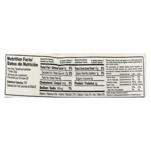 La Banderita Flour Tortillas - Rica's - Case of 12 - 22.5 oz. Perspective: back