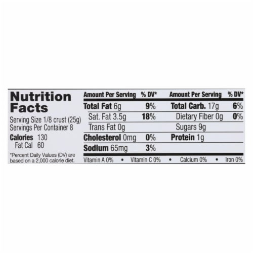 Midel Gluten Free Chocolate Snaps - Pie Crust - Case of 12 - 7.1 oz. Perspective: back