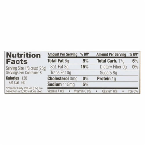 Midel Gluten Free Graham Style Pie Crust - Case of 12 - 7.1 oz. Perspective: back