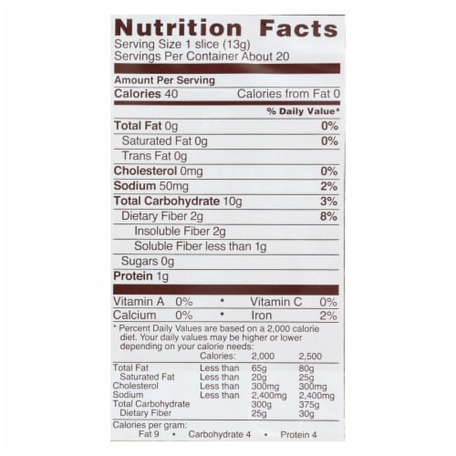 Wasa Crispbread Whole Grain - Flour and Water - Case of 12 - 9.2 oz. Perspective: back