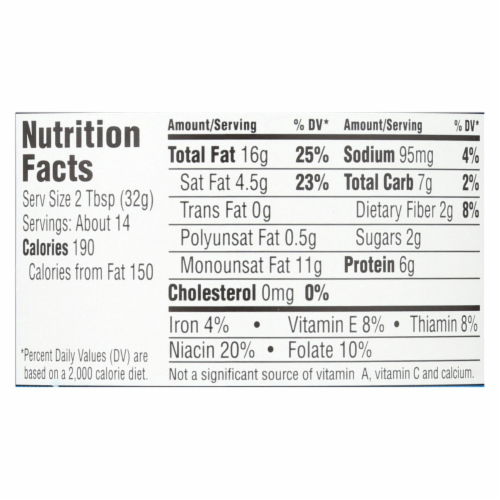 Earth Balance Crunchy Coconut and Peanut Spread - Case of 12 - 16 oz. Perspective: back