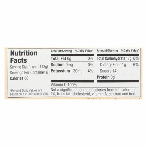 Santa Cruz Organic Apple Sauce - Cinnamon - Case of 12 - 4 oz. Perspective: back