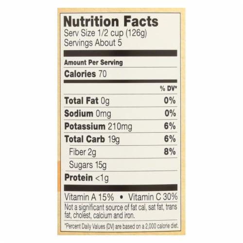 Santa Cruz Organic Apple Sauce - Apricot - Case of 12 - 23 oz. Perspective: back