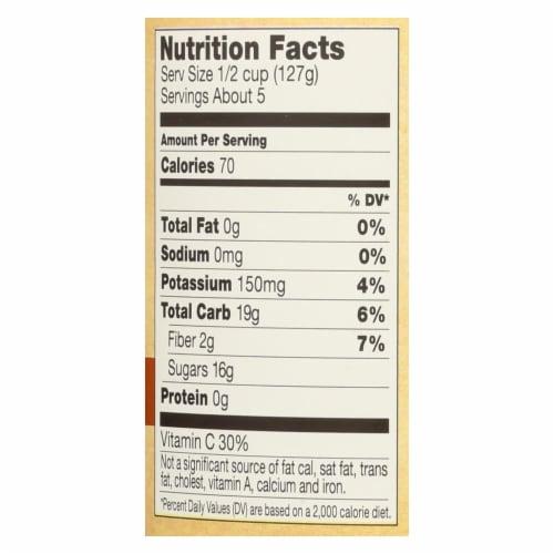 Santa Cruz Organic Apple Sauce - Cinnamon - Case of 12 - 23 oz. Perspective: back