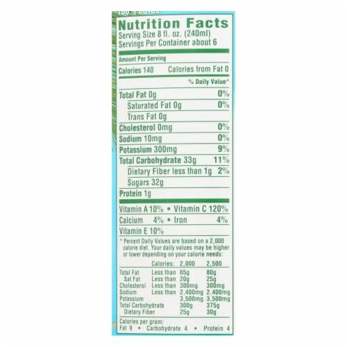 Dole 100% Pineapple Juice - Case of 12 - 46 FZ Perspective: back