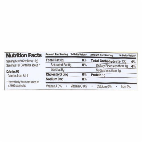 Edward and Sons Brown Rice Snaps - Unsalted Plain - Case of 12 - 3.5 oz. Perspective: back