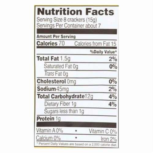 Edward and Sons Brown Rice Snaps - Cheddar - Case of 12 - 3.5 oz. Perspective: back