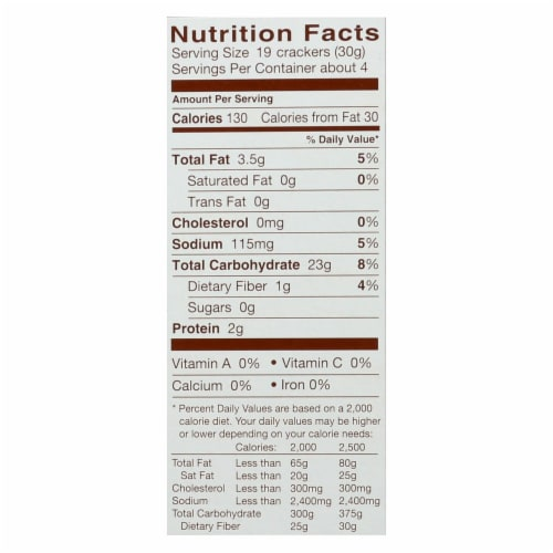 Blue Diamond - Nut Thins - Pecan - Case of 12 - 4.25 oz. Perspective: back