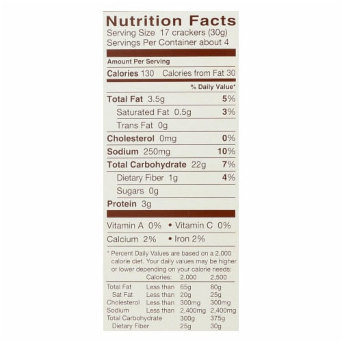 Blue Diamond - Nut Thins - Cheddar Cheese - Case of 12 - 4.25 oz. Perspective: back