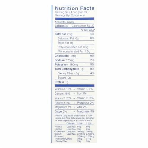 Almond Breeze - Almond Milk - Unsweetened Vanilla - Case of 12 - 32 fl oz. Perspective: back