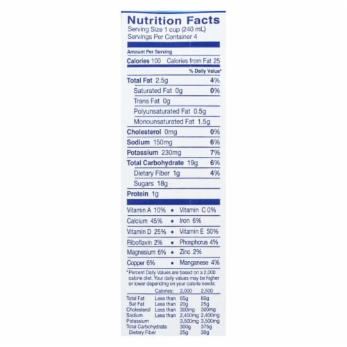 Almond Breeze - Almond Milk - Chocolate - Case of 12 - 32 fl oz. Perspective: back