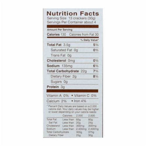 Blue Diamond - Artesion Nut Thins - Flax Seed - Case of 12 - 4.25 oz. Perspective: back