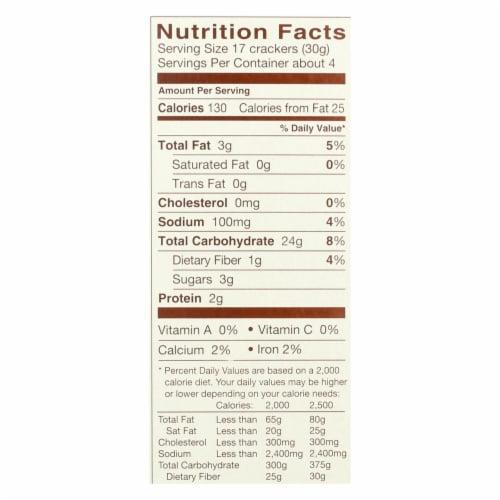 Blue Diamond - Nut Thin Crackers - Honey Cinnamon  - Case of 12 - 4.25 oz. Perspective: back