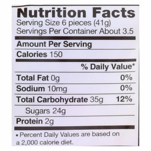 Haribo Peaches - Natural - Case of 12 - 5 oz. Perspective: back