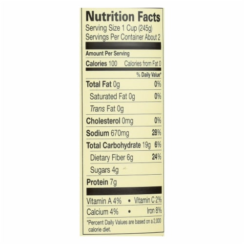 Amy's - Organic Fat Free Split Pea Soup - Case of 12 - 14.1 oz Perspective: back