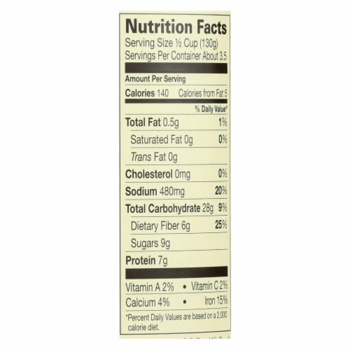 Amy's - Organic Vegetarian Baked Beans - Case of 12 - 15 oz. Perspective: back