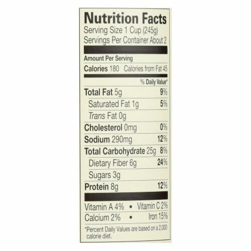 Amy's - Organic Low Sodium Lentil Soup - Case of 12 - 14.5 oz Perspective: back