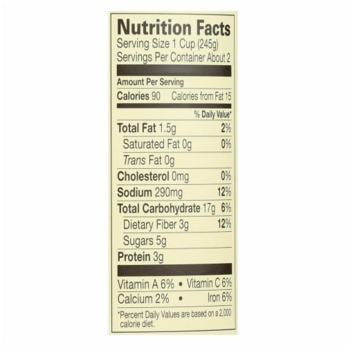 Amy's - Organic Low Sodium Minestrone Soup - Case of 12 - 14.1 oz Perspective: back