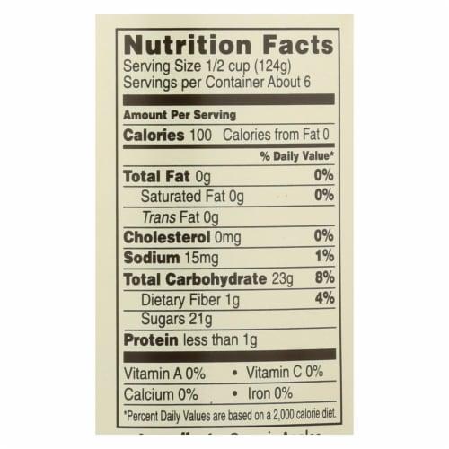 Omena Organics Apple Sauce - Organic - Sweetned - Case of 12 - 24 oz Perspective: back