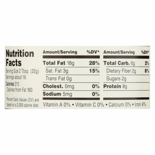Woodstock Organic Unsalted Crunchy Easy Spread Peanut Butter - Case of 12 - 18 OZ Perspective: back