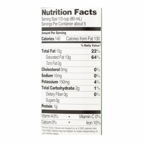 Native Forest Organic Classic - Coconut Milk - Case of 12 - 13.5 Fl oz. Perspective: back