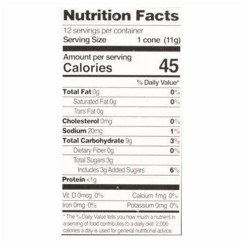 Let's Do Organics Ice Cream Cones - Sugar - Case of 12 - 4.6 oz. Perspective: back