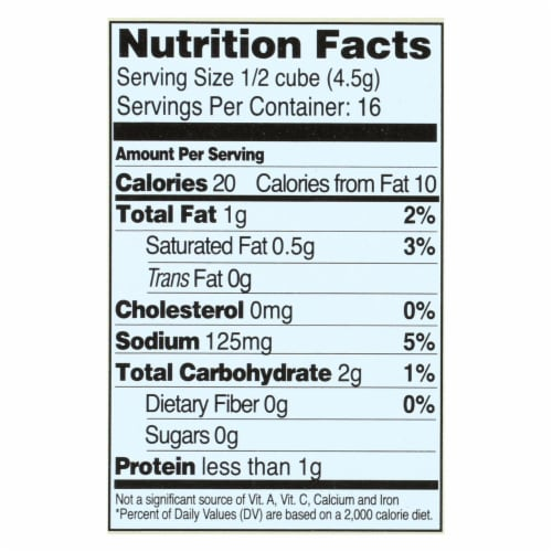 Edwards and Sons Natural Bouillon Cubes - Not Chick n - Low Sodium - 2.5 oz - Case of 12 Perspective: back