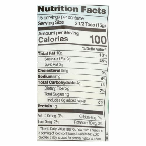 Let's Do Organics Organic Shredded - Coconut - Case of 12 - 8 oz. Perspective: back