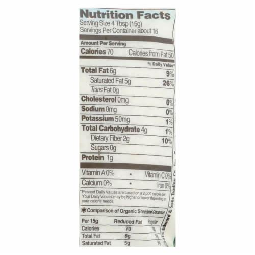 Let's Do Organics Organic Lite Shredded - Coconut - Case of 12 - 8.8 oz. Perspective: back