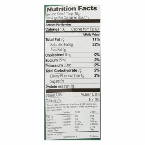 Let's Do Organics Toasted Coconut Flakes - Organic - Case of 12 - 7 oz. Perspective: back