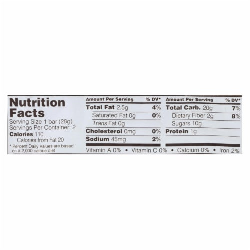 Nature's Bakery Stone Ground Whole Wheat Fig Bar - Raspberry - 2 oz - Case of 12 Perspective: back