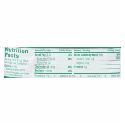 Nature's Bakery Stone Ground Whole Wheat Fig Bar - Apple Cinnamon - Case of 12 - 2 oz. Perspective: back