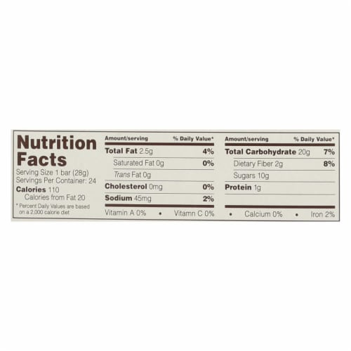 Nature's Bakery Stone Ground Whole Wheat Fig Bar - Original - Case of 12 - 2 oz. Perspective: back