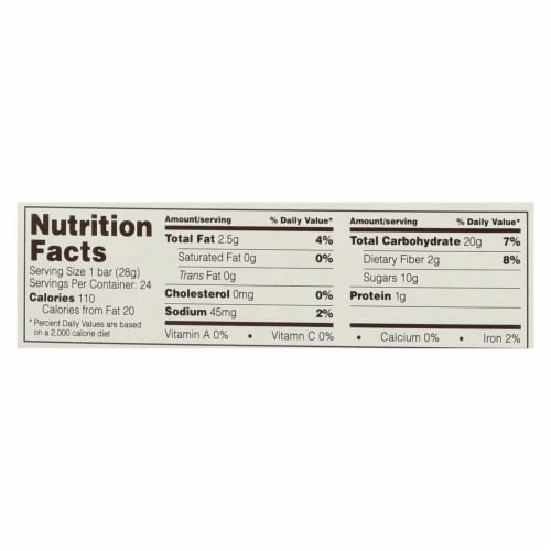 Nature's Bakery Stone Ground Whole Wheat Fig Bar - Strawberry - 2 oz - Case of 12 Perspective: back