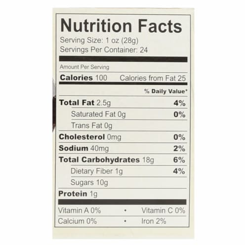 Nature's Bakery Gluten Free Fig Bar - Blueberry - Case of 12 - 2 oz. Perspective: back