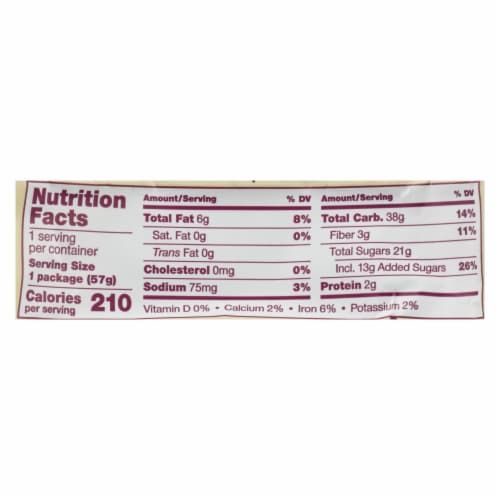 Nature's Bakery Gluten Free Fig Bar - Original - Case of 12 - 2 oz. Perspective: back