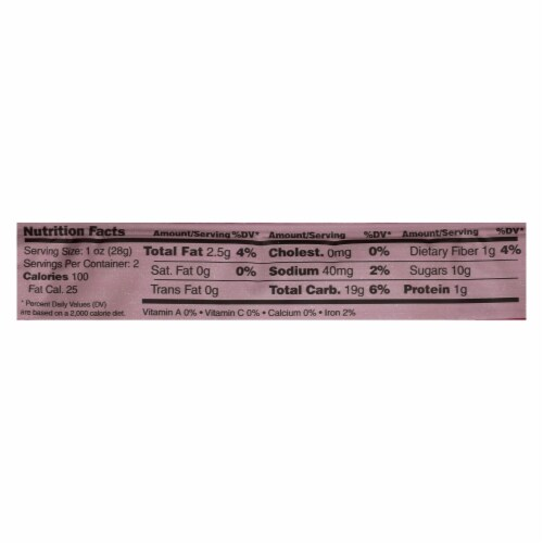 Nature's Bakery Gluten Free Fig Bar - Pomegranite - Case of 12 - 2 oz. Perspective: back