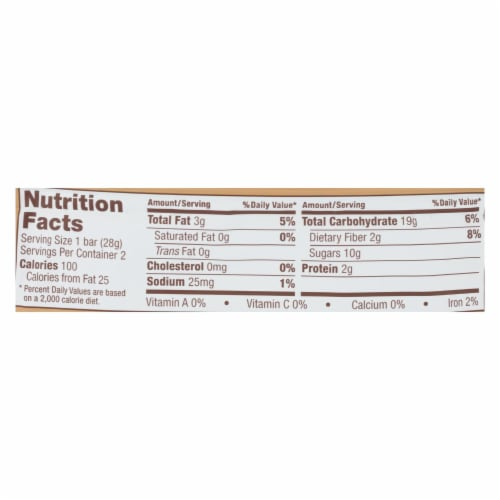 Nature's Bakery Double Chocolate Brownies - Chocolate - Case of 12 - 2 oz. Perspective: back