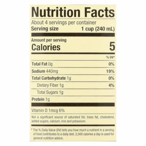Pacific Natural Foods Mushroom Broth - Organic - Case of 12 - 32 Fl oz. Perspective: back