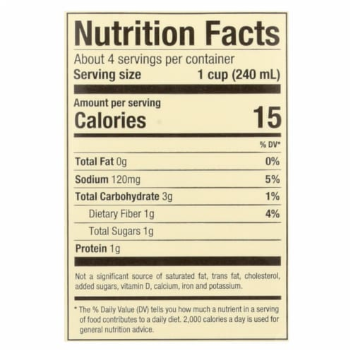 Pacific Natural Foods Vegetable Broth - Low Sodium - Case of 12 - 32 Fl oz. Perspective: back