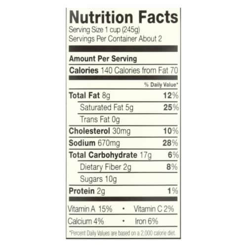 Pacific Natural Foods Bisque - Roasted Red Pepper and Tomato - Case of 12 - 17.6 oz. Perspective: back
