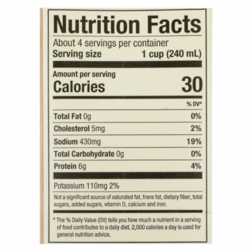 Pacific Natural Foods Simply Stock - Chicken - Case of 12 - 32 Fl oz. Perspective: back