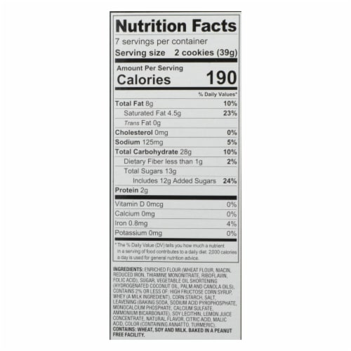 Dare - Cookies - Lemon Creme - Case of 12 - 10.2 oz. Perspective: back