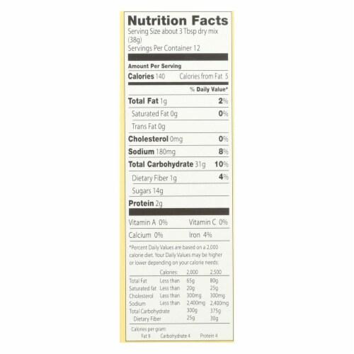European Gourmet Bakery Organic Oatmeal Muffin Mix - Oatmeal - Case of 12 - 16 oz. Perspective: back